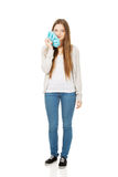 Teen woman with toothache. Stock Photography
