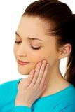 Teen woman with toothache. Royalty Free Stock Photo