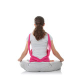 Teen woman training yoga Royalty Free Stock Photo