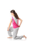 Teen woman training yoga Stock Images