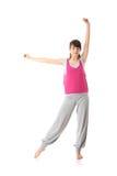 Teen woman training yoga Stock Photo