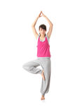 Teen woman training yoga Stock Image