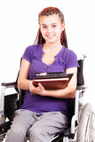 Teen woman on wheelchair Stock Photography