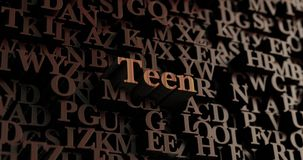 Teen - Wooden 3D rendered letters/message Stock Photos