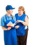 Teen Worker with Boss Stock Images