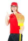 Teen Worker Good Attitude Royalty Free Stock Image