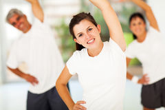 Teen working out Stock Photo