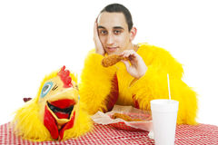 Teen Works In Fast Food Stock Photos