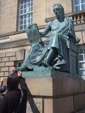 Teen-wrijft van filosoof David Hume, Schotland, Groot-Brittannië stock afbeeldingen