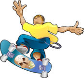 Teen Youth Cliques Skater royalty free illustration