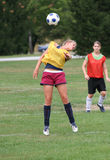 Teen Youth Soccer  Action 20. Teen Youth Soccer Player bouncing ball during practice Royalty Free Stock Photo