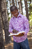 Teenage african boy. In nature Royalty Free Stock Images