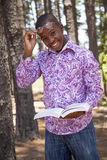 Teenage african boy. In nature Stock Images