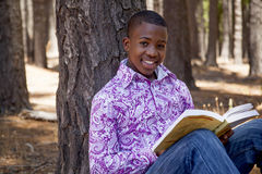 Teenage african boy Royalty Free Stock Images