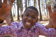 Teenage african boy. In nature Royalty Free Stock Photos