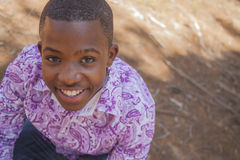 Teenage african boy Stock Photo