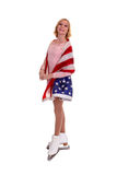 Teenage American Figure Skater Royalty Free Stock Photography