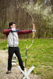 Teenage archer with his bow Royalty Free Stock Image