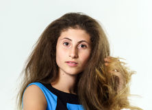 Teenage armenian girl portrait Stock Images