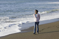 Teenage Asian Girl at Beach Royalty Free Stock Image