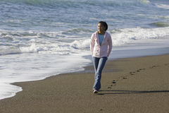 Teenage Asian Girl at Beach Royalty Free Stock Photos