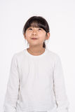 Teenage Asian Girl Child Studio Portrait Shoot - Isolated Stock Images