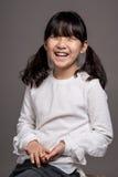 Teenage Asian Girl Child Studio Portrait Shoot - Isolated Royalty Free Stock Photos