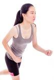 Teenage Asian girl jogging Stock Images