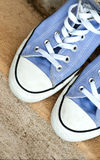 Teenage athletic casual shoes Stock Photo