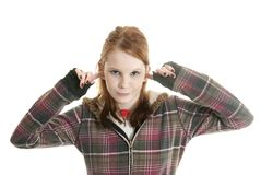 Teenage attitude Stock Photography