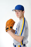 Teenage baseball pitcher Stock Image