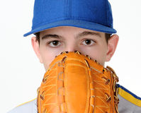 Teenage baseball player Royalty Free Stock Photo