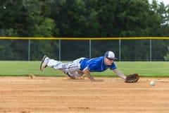 Teenage Baseball Player Stock Photo