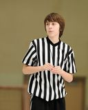 Teenage basketball referee Royalty Free Stock Photos