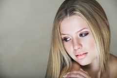 Teenage blond girl Royalty Free Stock Images