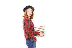 Teenage bookworm Royalty Free Stock Images