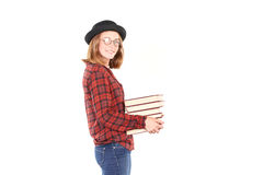 Teenage bookworm Stock Images