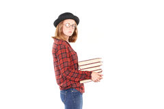 Teenage bookworm Royalty Free Stock Image