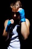 The teenage boxer. Stock Photos