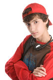 Teenage boy with arms crossed Stock Photography
