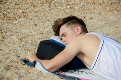 Free Teenage Boy At The Beach Royalty Free Stock Image - 100119506