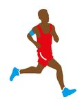 Teenage boy athlete running Royalty Free Stock Photo