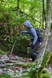 Teenager hiker on a trail Stock Photography