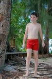 Teenage boy on beach Royalty Free Stock Image