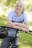 Teenage Boy On Bicycle Royalty Free Stock Images