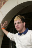 Teenage boy with bleached hair Stock Images