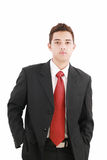Teenage boy in a business suit Royalty Free Stock Images
