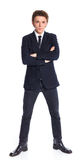 Teenage boy in a business suit Stock Images
