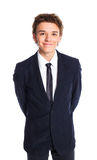 Teenage boy in a business suit Stock Photo
