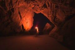 Teenage boy in cave